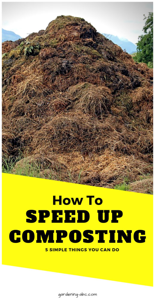 How to speed up composting